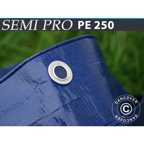 Lona 6x8m, PE 250g/m², Azul