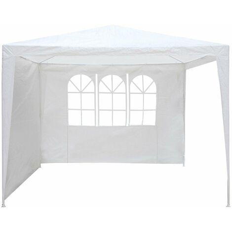 Lona blanca para carpa de recepción - Partición para cenador - 1,9 x 2,9 m
