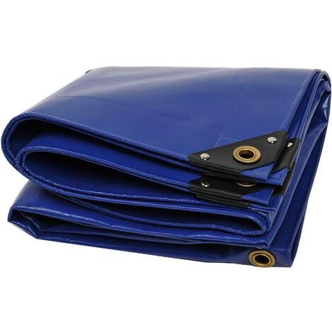 Lona de protección NEMAXX PLA58 Premium 500 x 800 cm; azul con ojales, PVC de 650 g/m², cubierta, lona de protección. Impermeable y a prueba de desgarros, 40m²