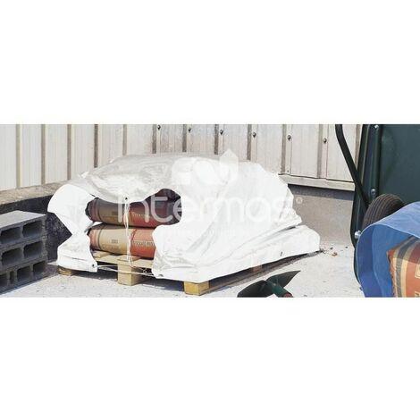 Lona de protección toldo multiuso impermeable 120g 5x8m blanco INTERMAS PROTEX