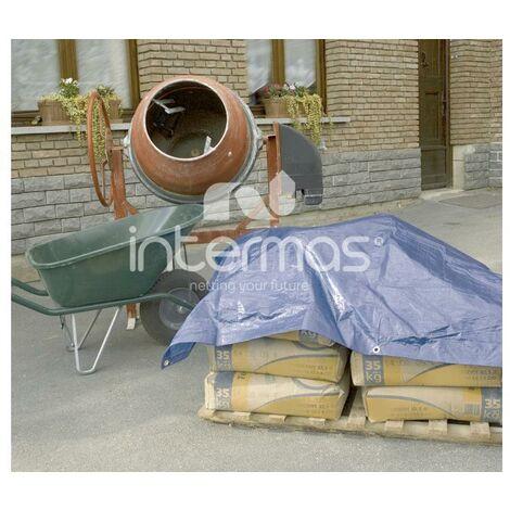 Lona de protección toldo multiuso impermeable 120g 6x10m azul INTERMAS PROTEX