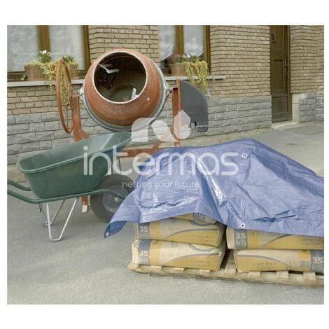 Lona de protección toldo multiuso impermeable 80g 10x15m azul INTERMAS PROTEX