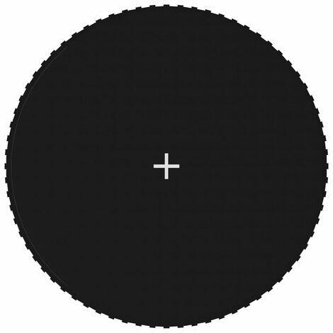 Lona de salto para cama elástica redonda tela negro 3,96 m