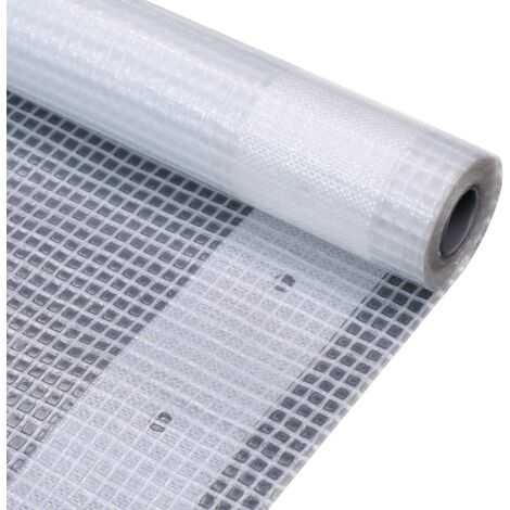 Lona impermeable 260 g/m² 4x10 m blanca