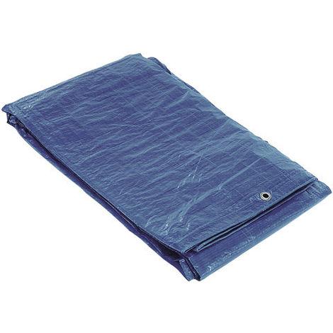 Lona Impermeable Azul Con Ojetes Metálicos 4 x 5 Metros (Aproximadamente) - NEOFERR