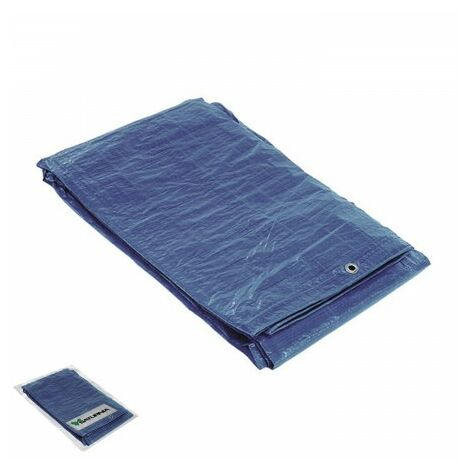 Lona impermeable azul con ojetes metálicos 8 x 12 metros (aproximadamente)