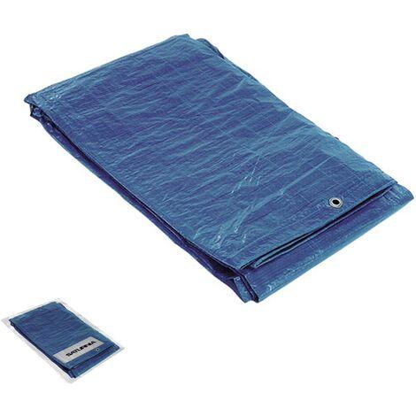"""main image of """"Lona Impermeable Reforzada 3 x4 metros (Aproximadamente) Con Ojetes Metálicos, Lona de Protección Duradera, Color Azul."""""""
