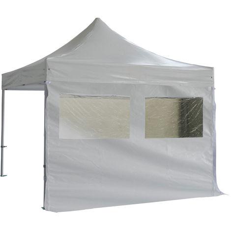 Lona lateral 2 ventanas con cortina 3m PVC 520g / m2 - Unidad