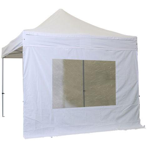 Lona lateral con ventana 4m poliester 300g / m2 Blanco