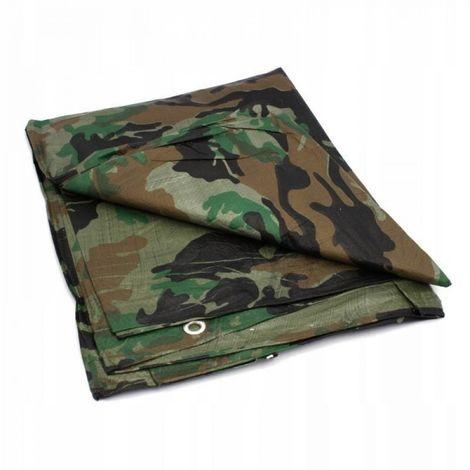 Lona militar camuflaje camuflaje 80g camping 6x10