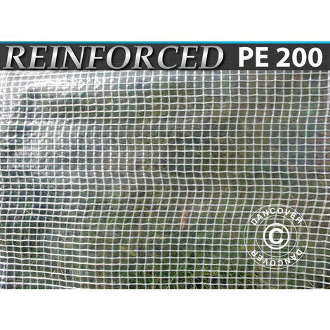 Lona Reforzado 10x14m, PE 200g/m², Transparente
