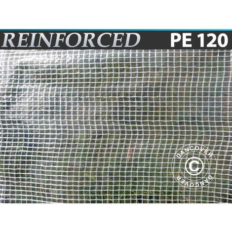 Lona Reforzado 6x10m, PE 120g/m², Transparente