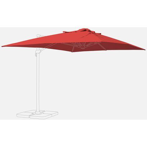 Lona Roja de Recambio para Sombrilla de jardín 3x4m
