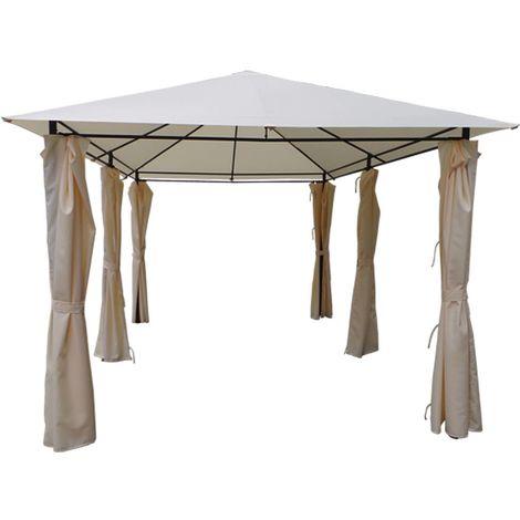 Lona y cortinas para Pergola Rosita - 3 x 4 m - Beige