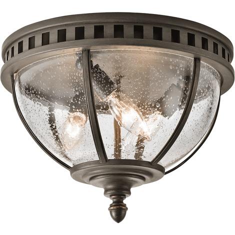Londonderry 3lt Ceiling Flush - 3 x 40W E14 by Happy Homewares