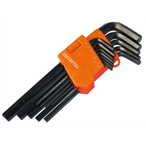 Long Arm Hex Key Sets, 13 Piece