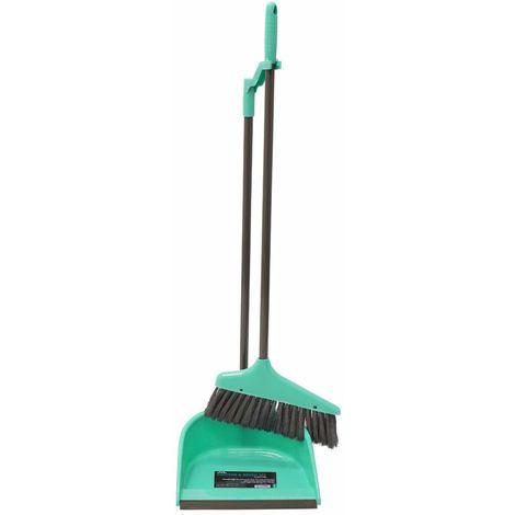 Long Handle Dustpan and Bristle Brush Set