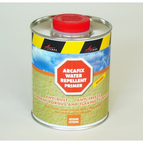 ARCAFIX - Hardens porous substrates prone to disintegration, crumbling and/or powdering water repellent,waterproofs, | Transparent Liquid - 0.75L (cover up to 3.75m²)