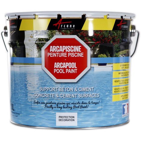 ARCAPOOL - Swimming pool paint Pond decorative Protective concrete and cement substrates | Blue - 2.5 l