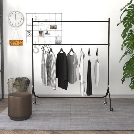 Long Moveable Metal Clothes Rail Garment Bar Tube, 5ft