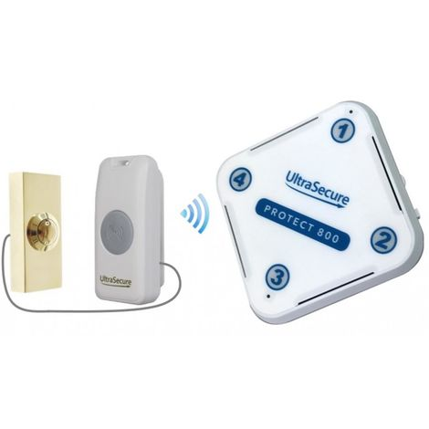 Long Range 800 metre Wireless Doorbell Kit with Brass Push Button (Protect 800) [006-3150]