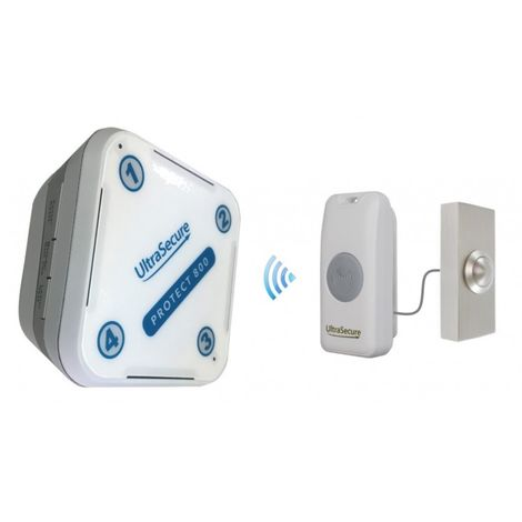 Long Range 800 metre Wireless Doorbell Kit with Brushed Silver Push Button (Protect 800) [006-3140]