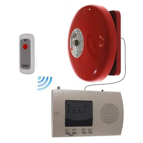 Long Range (900 metre) Wireless Warehouse 'S' Bell System with Internal Push Button [006-2320]