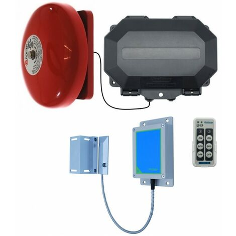 Long Range Wireless Gate Bell with Outdoor Receiver [004-5410]