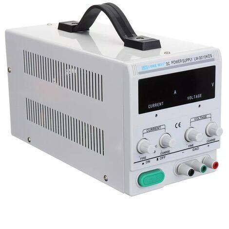 LONG WEI LW-3010KDS 110V / 220V 0-30V 0-10A Ajustable, Pantalla digital LED Fuente de alimentacion de CC Fuente de alimentacion regulada por conmutacion