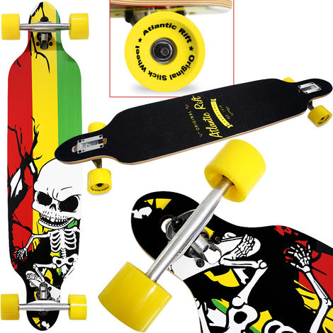 Longboard 42' Wooden Long Board Skateboard Cruiser ABEC 9 42 Inch 107x24cm Board SKELETT (de)