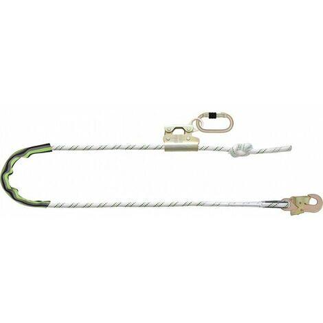 Longe de maintien en corde tressée et mousquetons (plusieurs tailles disponibles)