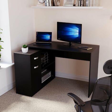 Longton Adjustable Computer Desk, Black