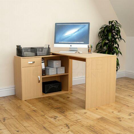 "main image of ""Longton Adjustable Computer Desk, Pine"""