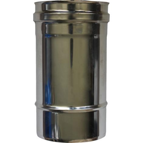 Longueur droite 250 mm double paroi - Ø int/ext: 100-150