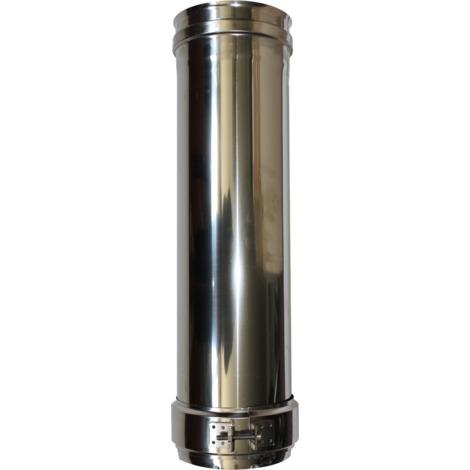 Longueur droite 500 mm double paroi - Ø int/ext: 100-150