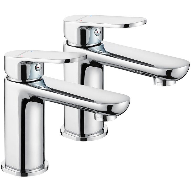 Hervorragend Lonheo 2er Set Chrom Wasserhahn Waschbecken Bad Waschtischarmatur IE75