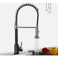 Lonheo Niederdruck Mischbatterie Küchenarmatur Wasserhahn 360° drehbar Armatur Küche Spiralfederarmatur Küchenspüle Geschirrbrause Spültischarmatur