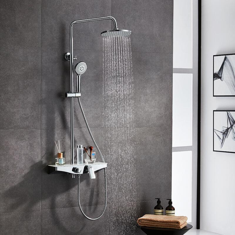 Lonheo nouveau design colonne de douche avec plateau de - Colonne de douche exterieur ...