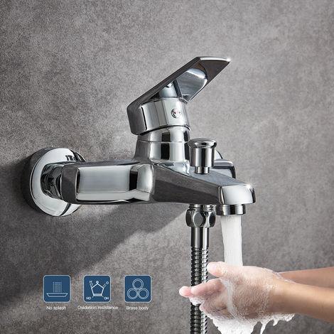Lonheo Verchromte Badewannenarmatur | Mischbatterie für die Badewanne | Wannenarmatur fürs Bad, Badewannenwasserhahn