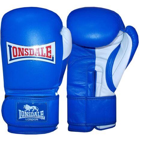 LONSDALE Guantes de entrenamiento sparring Pro Safe azules 14oz