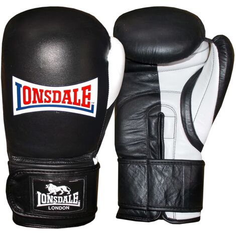 LONSDALE Sparring-Trainingshandschuhe Pro Safe Schwarz 16 Unzen