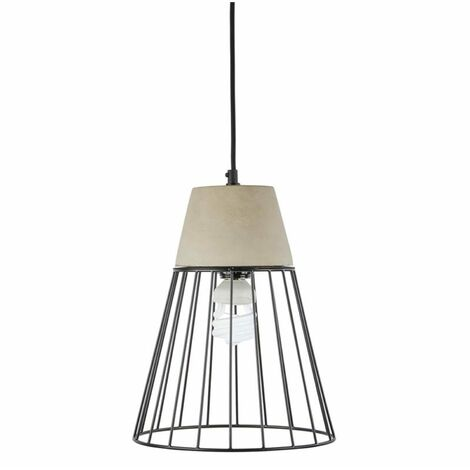 Loocida Sonnenstein Studie 78 Concrete Hanging Lamp Pendulum Lamp Concrete & Steel