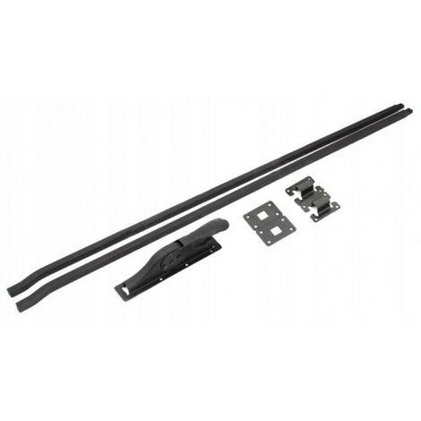 Loquet de garage + baskwil, 300 cm noir