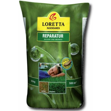 Loretta Rasensamen Reparatur Rasen 10 kg Nachsaat Keimgarantie Mantelsaat