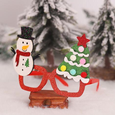 Los favores del marco Fete De Noel del brillo de los vidrios Decoracion fiesta de Navidad en vidrios del vestuario de los vidrios por vacaciones (muneco de nieve y arbol)