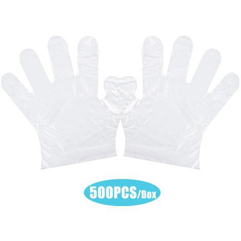 Los guantes desechables PE, guantes transparentes guante de latex Segura, 500PCS
