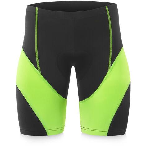 Los hombres de Pantalones cortos de ciclista acolchado camino MTB pantalon corto gris Xxl