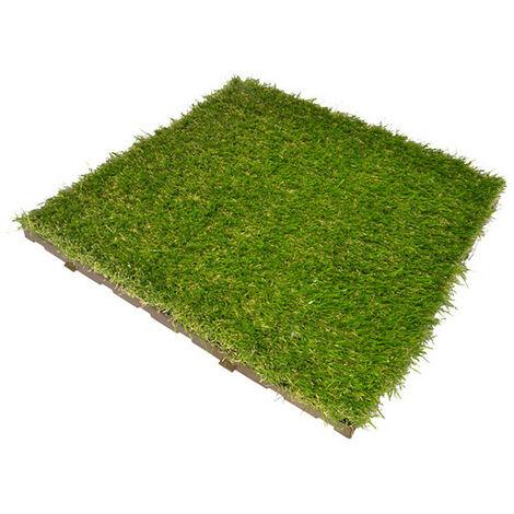 LOSETA CESPED ARTIFICIAL - 40X40X4.5 - PONTAROLO - GREEN PLATE..