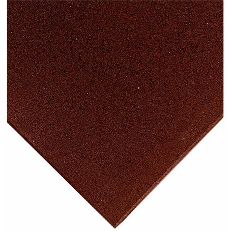 Loseta de Caucho Profesional Grano Fino 50x50cm - Roja
