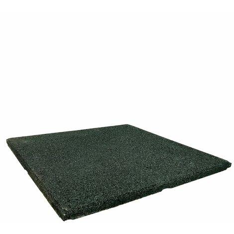 Loseta de Caucho Verde - 20 mm 1x1m